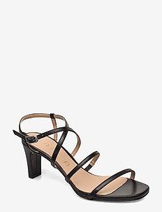 MIMO_NA - sandały na obcasie - black