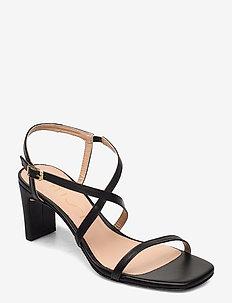 MONROY_NA - højhælede sandaler - black