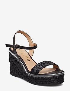 NOLITO_STY - heeled espadrilles - black