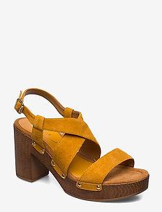 TERRAT_KS - heeled sandals - mustard