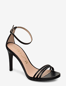 YADIN_NA - høyhælte sandaler - black