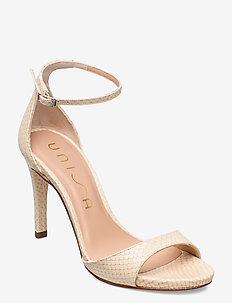 YAGUE_NEF - højhælede sandaler - shell