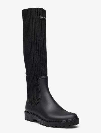 ALERCE_F21_RIB - lange stiefel - black