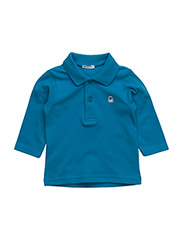 L/S POLO SHIRT - BLUE