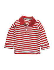 L/S POLO SHIRT - RED WHITE