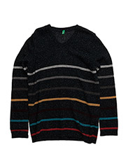 V NECK SWEATER L/S - NAVY MULTI