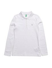 L/S POLO SHIRT - WHITE