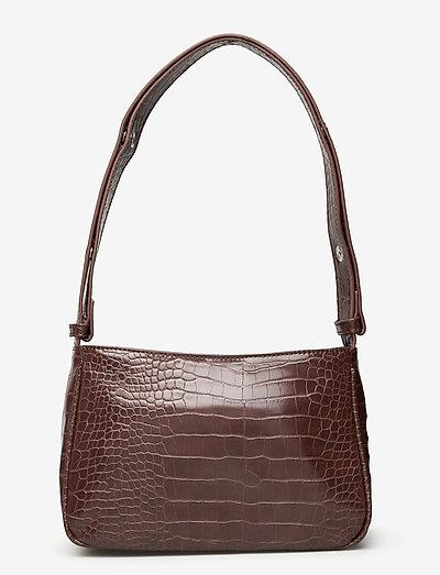 Unlimit shoulder bag Kerry - axelremsväskor - dark brown