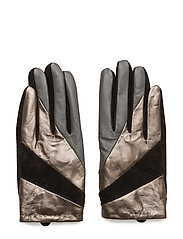 Short glove with cut lines - BLACK