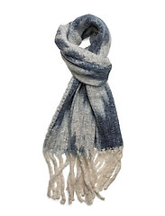 Blurry hairy scarf - NAVY