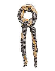 Calico cactus scarf - BLACK