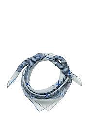 Casandra silk scarf - BLUE PASTE