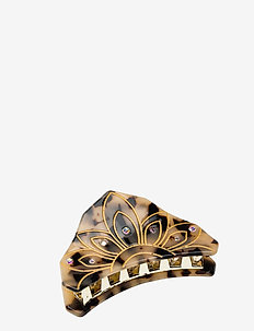 Nora Hair Claw - hår accessories - brown