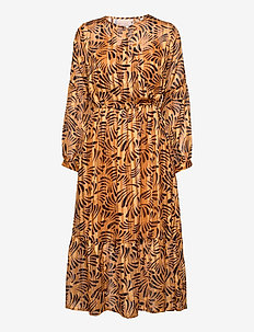 Vanja Dress - midi jurken - bronze brown