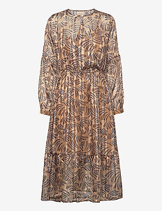 Vanja Dress - midi jurken - camel
