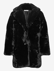 Odessa Jacket - sztuczne futro - black