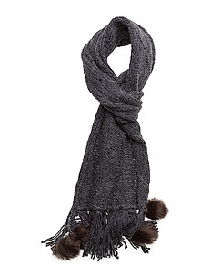 Square knitted scarf - NAVY
