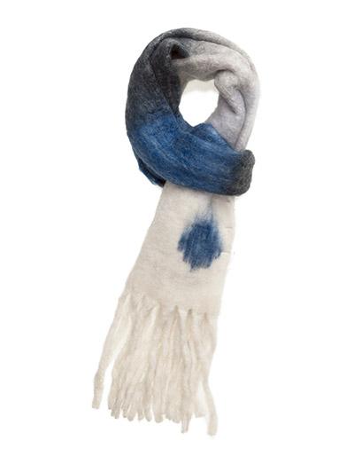 UNMADE OB Stripe fluffy scarf
