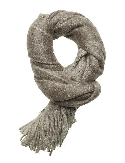 Melange furry scarf - L. GREY