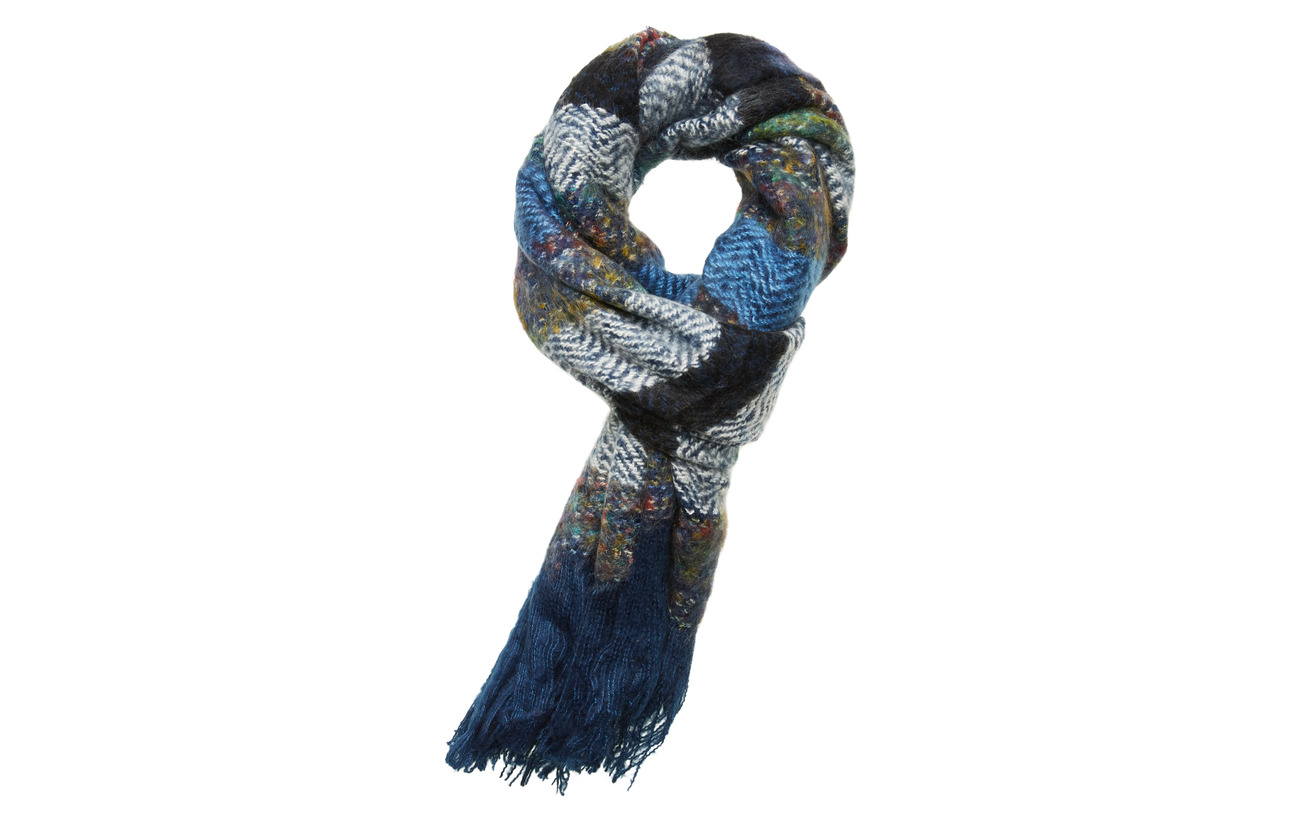 UNMADE Copenhagen Charlie Scarf - NAVY BLUE