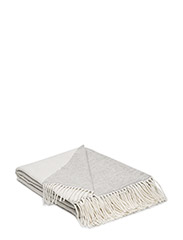 Urban Wool Throw - WHITE/GRAY
