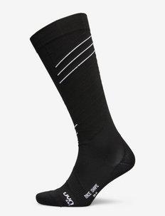 MAN SKI RACE SHAPE SOCKS - skarpety - black/white