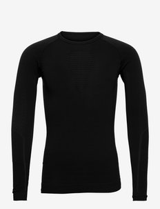 MAN VISYON UNDERWEAR SHIRT LONG SLEEVE - bluzki termoaktywne - blackboard/black/black