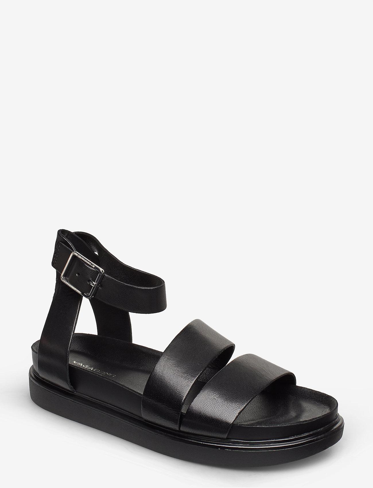 VAGABOND - ERIN - płaskie sandały - black - 0
