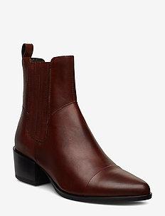 MARJA - ankelstøvler med hæl - brandy