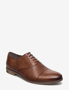 LINHOPE - buty sznurowane - cognac