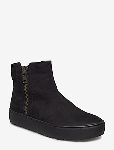 BREE - flat ankle boots - black