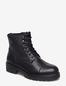 KENOVA - flade ankelstøvler - black