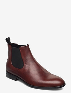HARVEY - chelsea boots - dk brandy