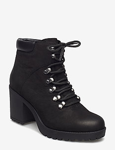 GRACE - ankle boots with heel - black