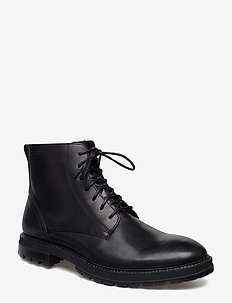 JOHNNY - laced boots - black