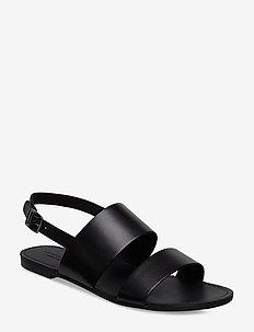 TIA - platta sandaler - black