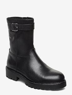 KENOVA - platta ankelboots - black