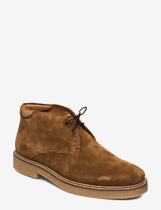 GARY - laced boots - cognac