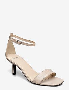 AMANDA - høyhælte sandaler - off white