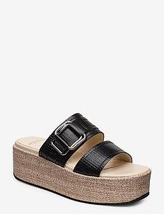 FELICIA - høyhælte sandaler - black