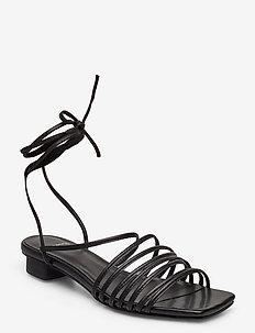 ANNI - sandały na obcasie - black