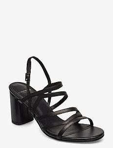 PENNY - høyhælte sandaler - black
