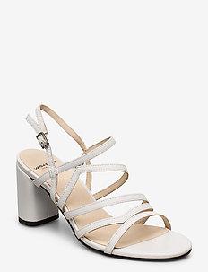 PENNY - høyhælte sandaler - white