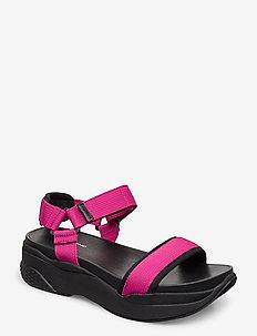 LORI - flat sandals - flamingo