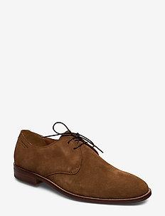 PARKER - buty sznurowane - cognac