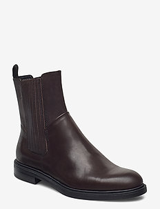 AMINA - flat ankle boots - brown
