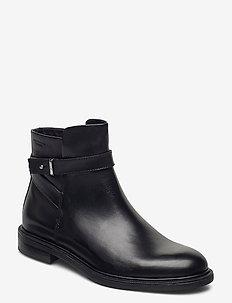 AMINA - flat ankle boots - black