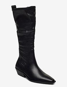 ALLY - lange laarzen - black