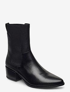 MARJA - ankelstøvler med hæl - black