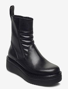 TARA - flate ankelstøvletter - black